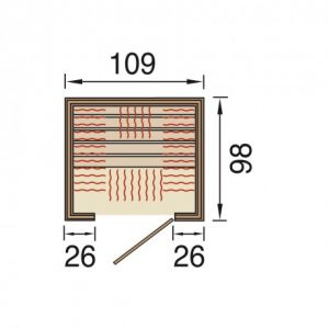 weka infrarotkabine 548 gr sse 1 mit fl chenstrahler. Black Bedroom Furniture Sets. Home Design Ideas