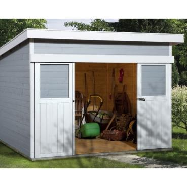 weka gartenhaus mit schiebet r 225 gr 2. Black Bedroom Furniture Sets. Home Design Ideas