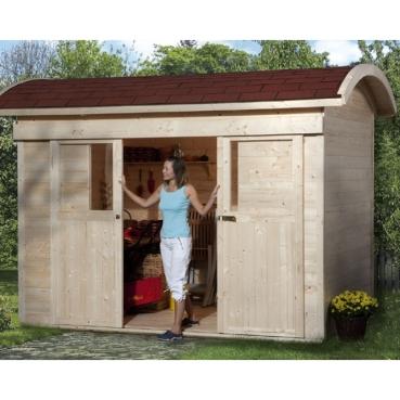 weka gartenhaus mit schiebet r 228 in 21 mm. Black Bedroom Furniture Sets. Home Design Ideas