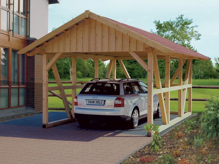 fachwerk carport mit dachschalung einzel. Black Bedroom Furniture Sets. Home Design Ideas