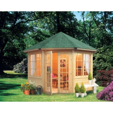 karibu 8 eck pavillon rom 2 geschlossen. Black Bedroom Furniture Sets. Home Design Ideas
