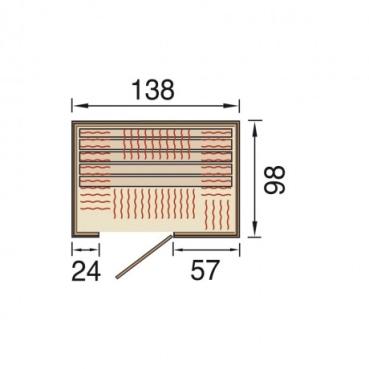 weka infrarotkabine 548 gr sse 2 mit fronteinstieg. Black Bedroom Furniture Sets. Home Design Ideas
