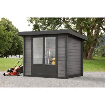tun sie sich etwas gutes mit holz wolff finnhaus wpc gartenhaus trend 28 mm. Black Bedroom Furniture Sets. Home Design Ideas