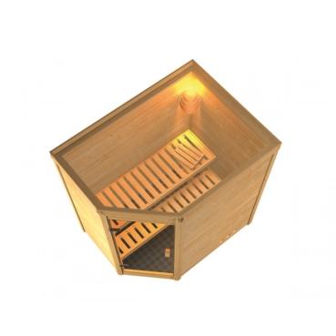 tun sie sich etwas gutes mit holz karibu sauna 230 volt. Black Bedroom Furniture Sets. Home Design Ideas