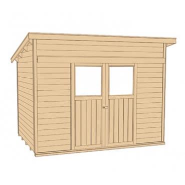 weka gartenhaus mit schiebet r 225 gr 1 in 21 mm. Black Bedroom Furniture Sets. Home Design Ideas