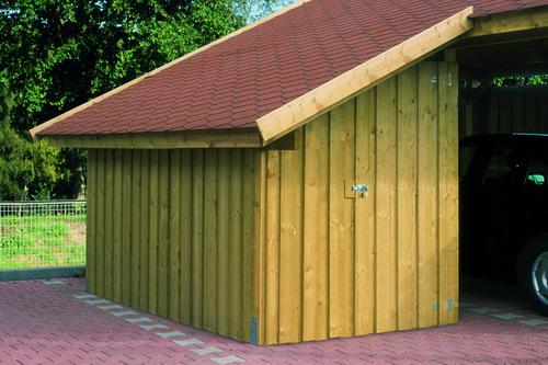 seitlicher anbau f r satteldach einzel bzw doppel carports mit dachschalung. Black Bedroom Furniture Sets. Home Design Ideas