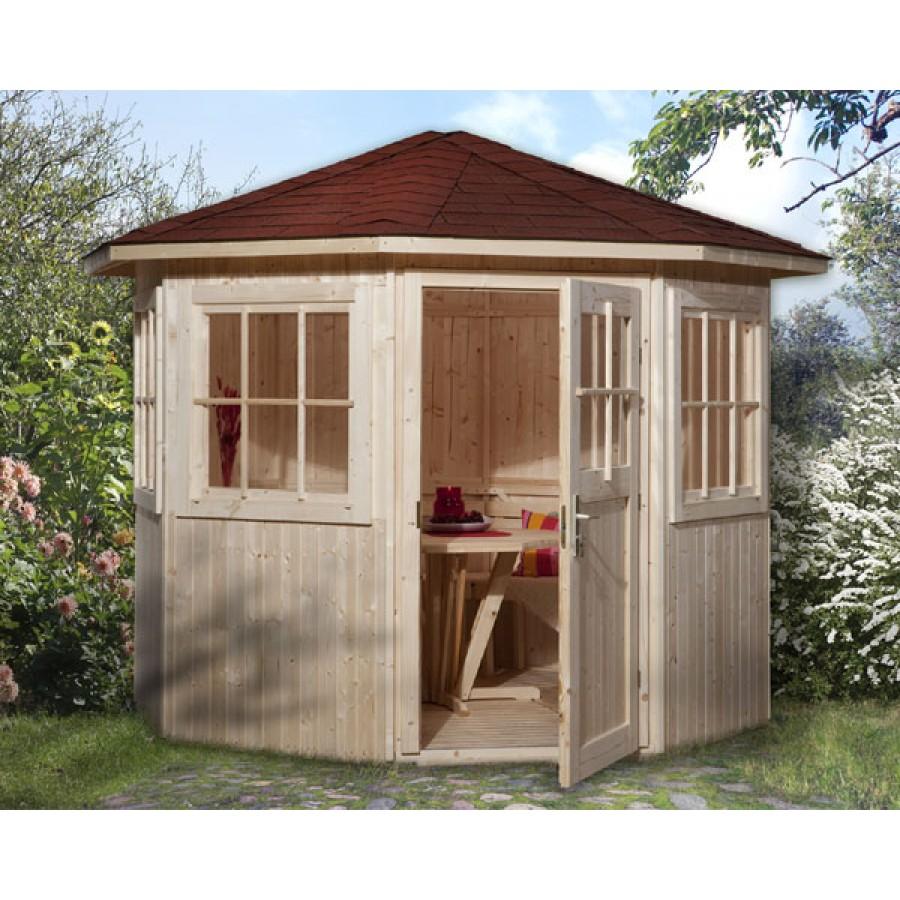 weka 8 eck pavillon sparset inkl roten ds. Black Bedroom Furniture Sets. Home Design Ideas