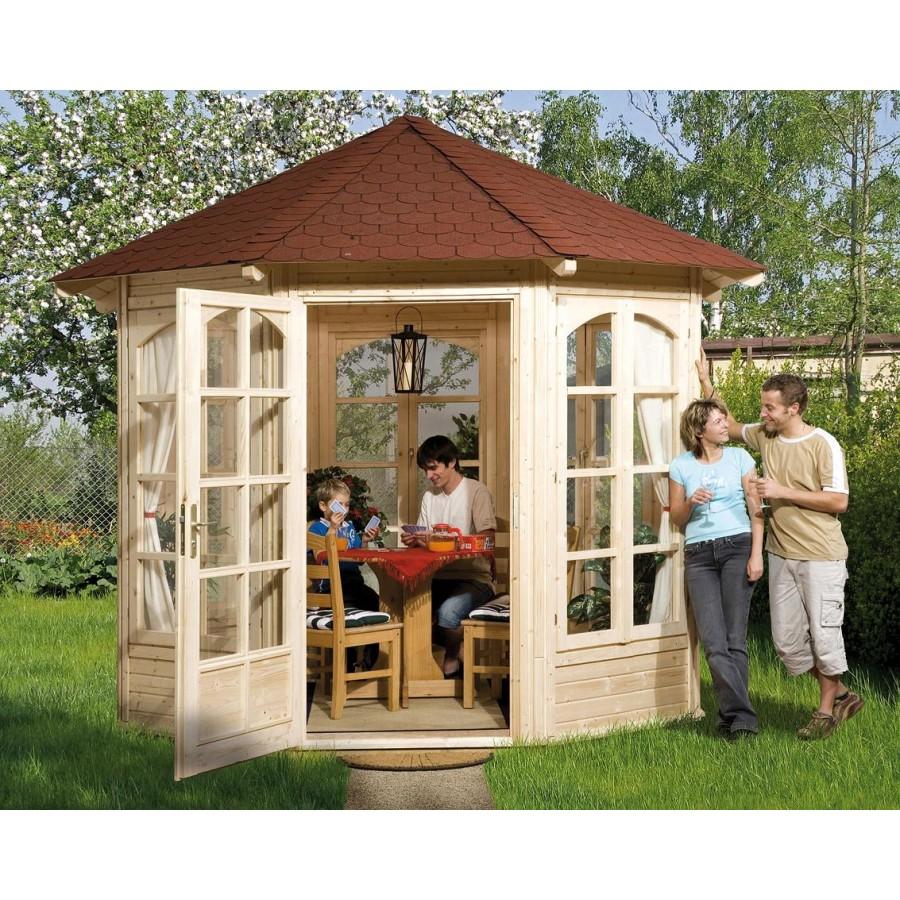 weka 8 eck pavillon 234 b sparset inkl roten ds. Black Bedroom Furniture Sets. Home Design Ideas