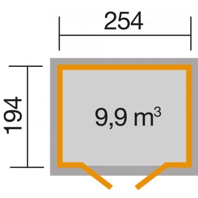 tun sie sich etwas gutes mit holz weka gartenhaus 321 ohne anbau 19 mm. Black Bedroom Furniture Sets. Home Design Ideas