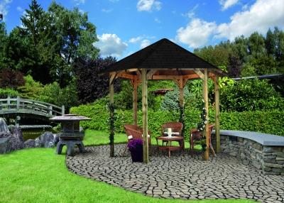 tun sie sich etwas gutes mit holz 6 eck pavillon madrid. Black Bedroom Furniture Sets. Home Design Ideas