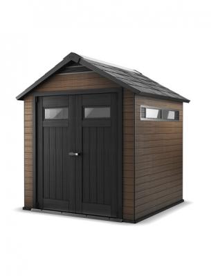 tun sie sich etwas gutes mit holz wpc gartenhaus fusion 757 braun. Black Bedroom Furniture Sets. Home Design Ideas