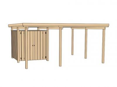 tun sie sich etwas gutes mit holz weka einzelcarport 607 gr 1 inkl ger teraum. Black Bedroom Furniture Sets. Home Design Ideas