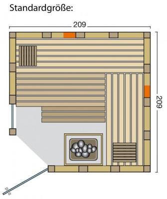 tun sie sich etwas gutes mit holz urban complete sauna infrarot kombination. Black Bedroom Furniture Sets. Home Design Ideas