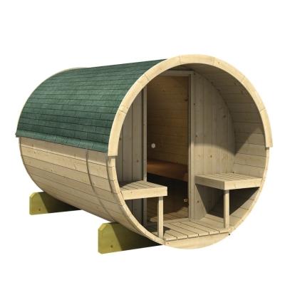 tun sie sich etwas gutes mit holz karibu saunahaus fasssauna 2 42 mm. Black Bedroom Furniture Sets. Home Design Ideas