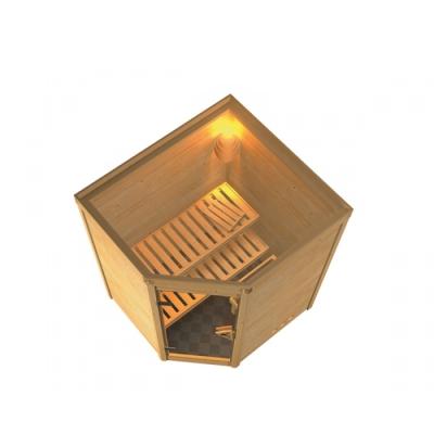 tun sie sich etwas gutes mit holz karibu sauna alicja 38 mm massivholzsauna. Black Bedroom Furniture Sets. Home Design Ideas