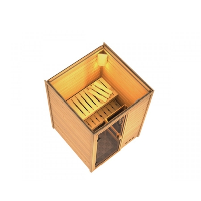 tun sie sich etwas gutes mit holz karibu sauna nadja 38 mm massivholzsauna. Black Bedroom Furniture Sets. Home Design Ideas