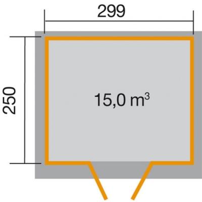 tun sie sich etwas gutes mit holz weka gartenhaus 321 gr 4 in 19 mm. Black Bedroom Furniture Sets. Home Design Ideas