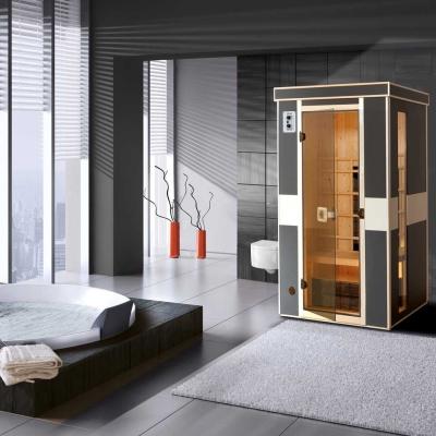tun sie sich etwas gutes mit holz weka infrarot w rmekabine mila 543 gr e 1. Black Bedroom Furniture Sets. Home Design Ideas