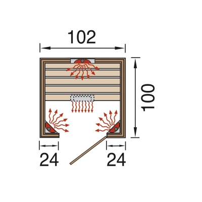 tun sie sich etwas gutes mit holz weka infrarot w rmekabine vaala 550 gr e 1. Black Bedroom Furniture Sets. Home Design Ideas