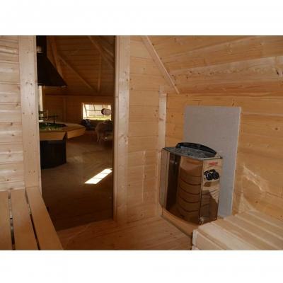 tun sie sich etwas gutes mit holz wolff finnhaus grillkota 9 de luxe mit. Black Bedroom Furniture Sets. Home Design Ideas